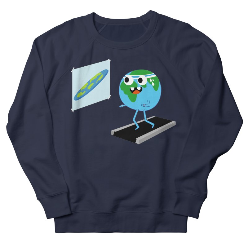 Flat earth Women's French Terry Sweatshirt by daniac's Artist Shop