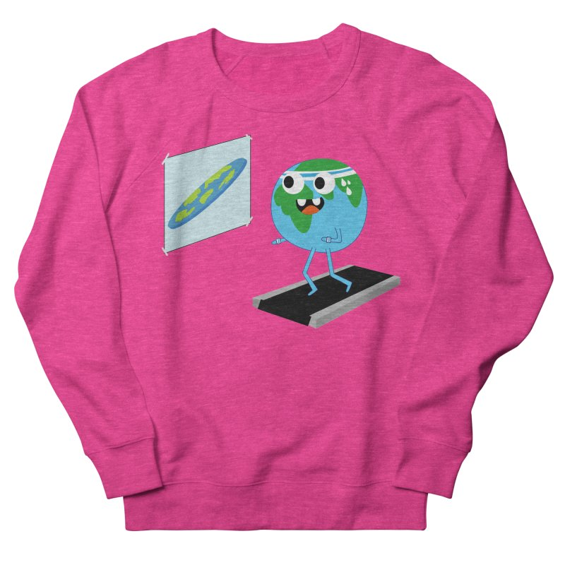 Flat earth Men's French Terry Sweatshirt by daniac's Artist Shop
