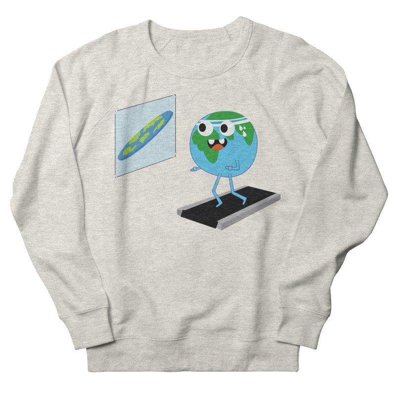 Flat earth Men's French Terry Sweatshirt by daniac's Artist Shop