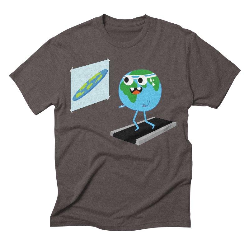 Flat earth Men's Triblend T-Shirt by daniac's Artist Shop