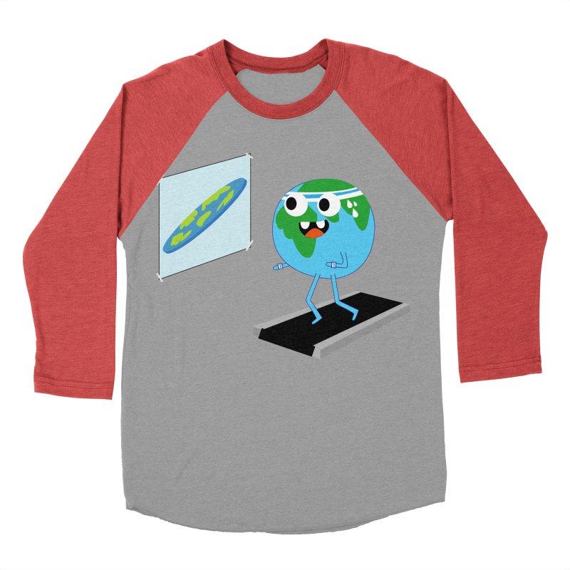 Flat earth Women's Baseball Triblend Longsleeve T-Shirt by daniac's Artist Shop