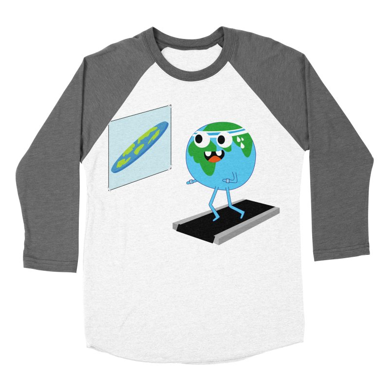 Flat earth Men's Baseball Triblend Longsleeve T-Shirt by daniac's Artist Shop