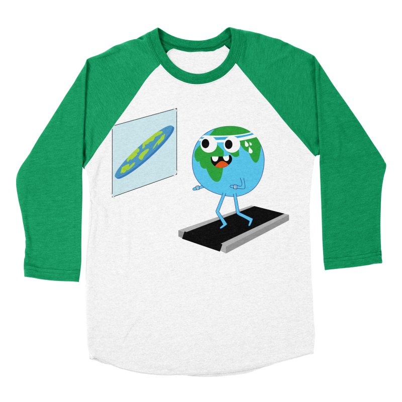 Flat earth Men's Baseball Triblend Longsleeve T-Shirt by daniac's Artist Shop