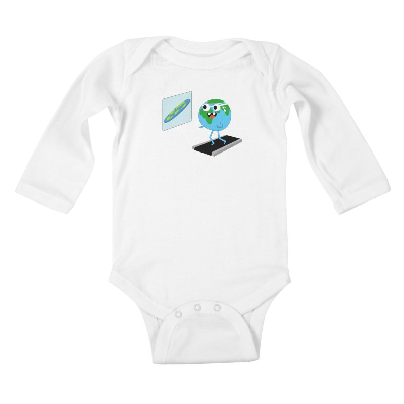 Flat earth Kids Baby Longsleeve Bodysuit by daniac's Artist Shop