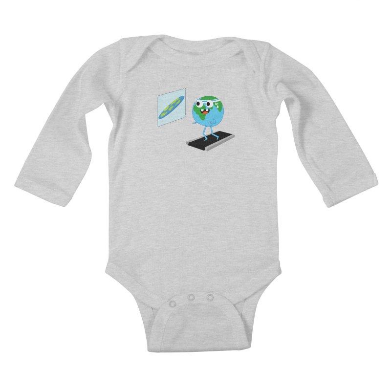 Flat earth Kids Baby Longsleeve Bodysuit by daniac's Artist Shop