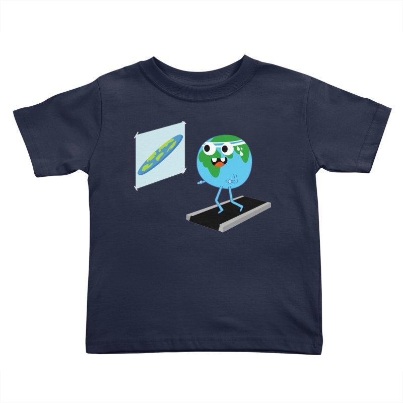 Flat earth Kids Toddler T-Shirt by daniac's Artist Shop