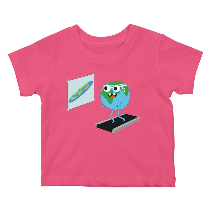 Flat earth Kids Baby T-Shirt by daniac's Artist Shop