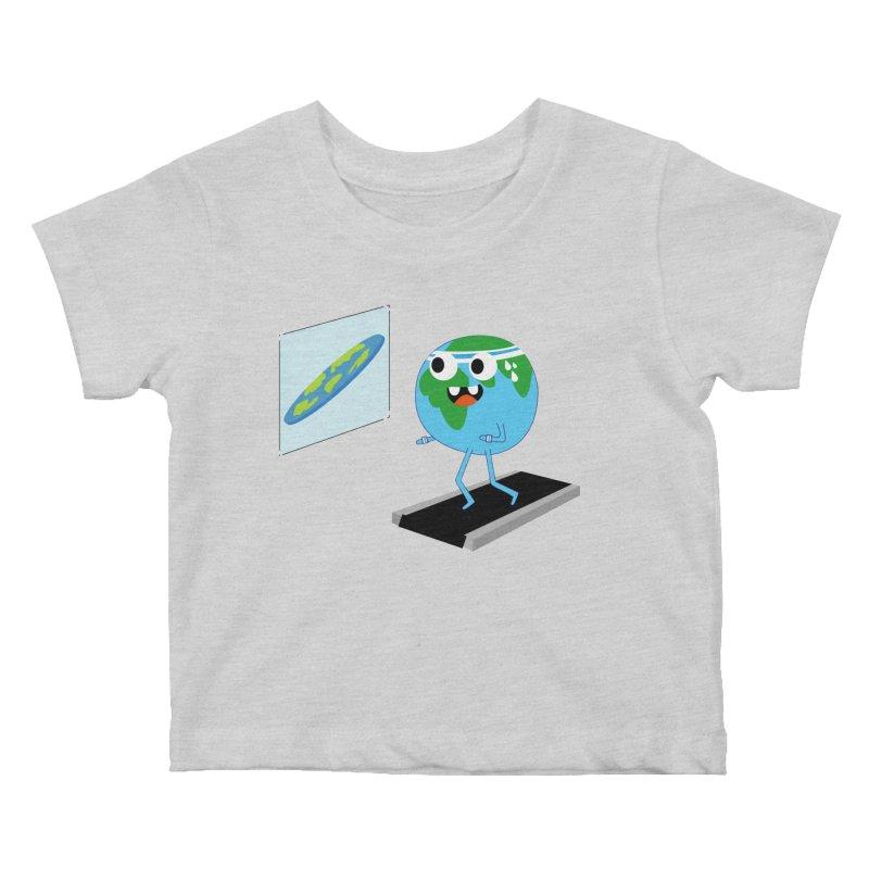 Flat earth Kids Baby T-Shirt by daniac's Artist Shop