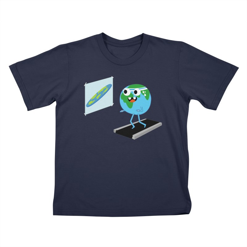 Flat earth Kids T-Shirt by daniac's Artist Shop