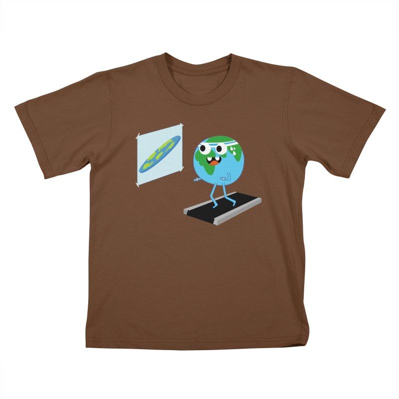 Flat earth Kids T-Shirt by daniac's Artist Shop