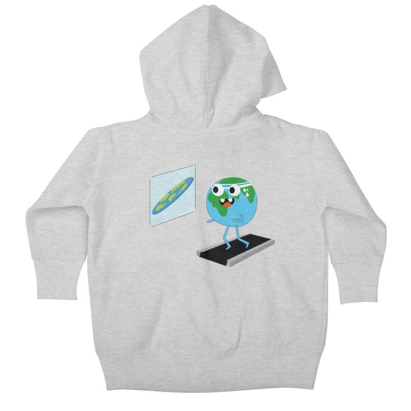 Flat earth Kids Baby Zip-Up Hoody by daniac's Artist Shop