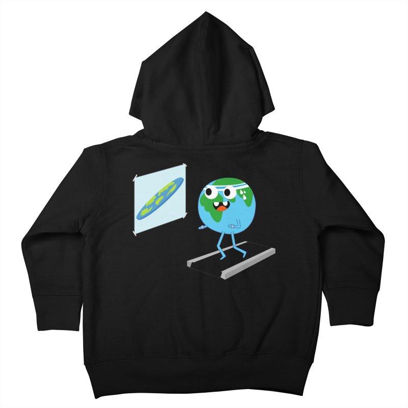 Flat earth Kids Toddler Zip-Up Hoody by daniac's Artist Shop