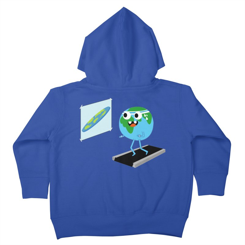 Flat earth Kids Toddler Zip-Up Hoody by daniac's Artist Shop