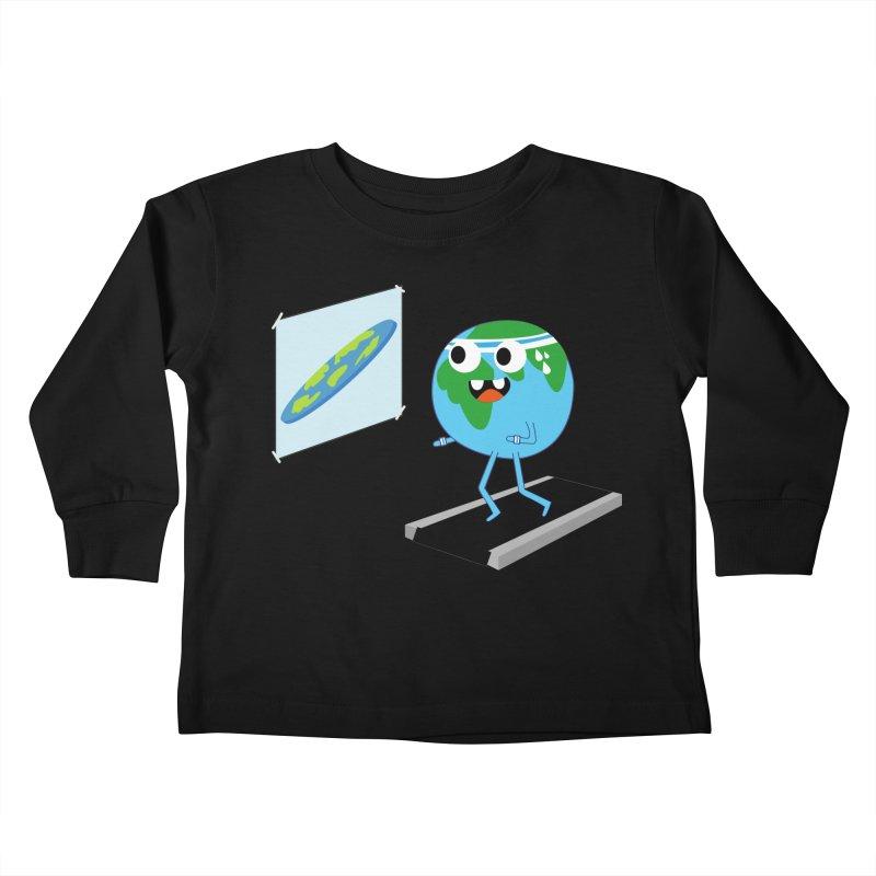Flat earth Kids Toddler Longsleeve T-Shirt by daniac's Artist Shop