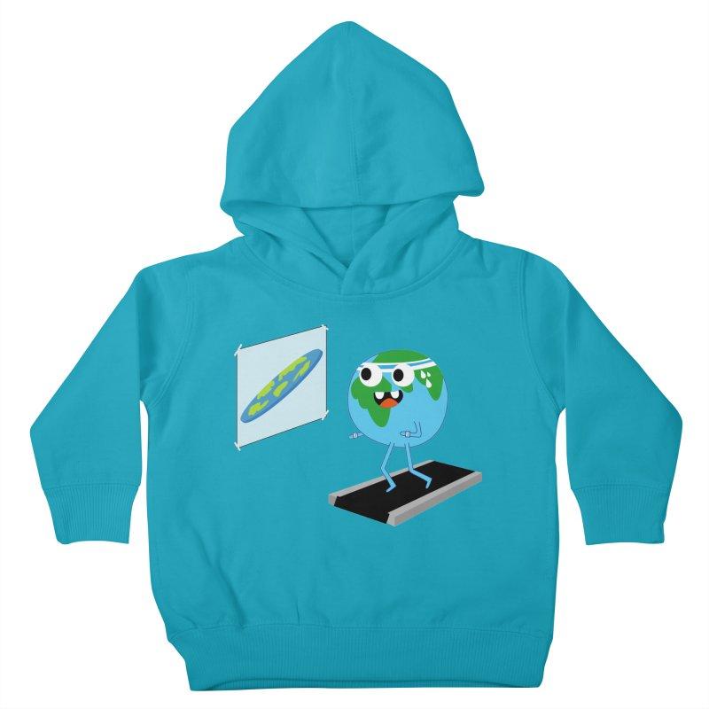 Flat earth Kids Toddler Pullover Hoody by daniac's Artist Shop