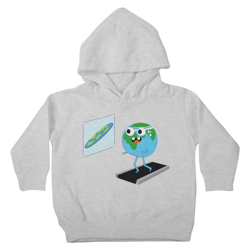 Flat earth Kids Toddler Pullover Hoody by daniac's Artist Shop
