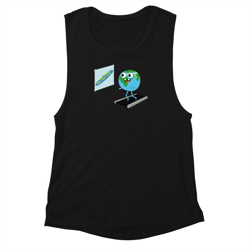 Flat earth Women's Muscle Tank by daniac's Artist Shop