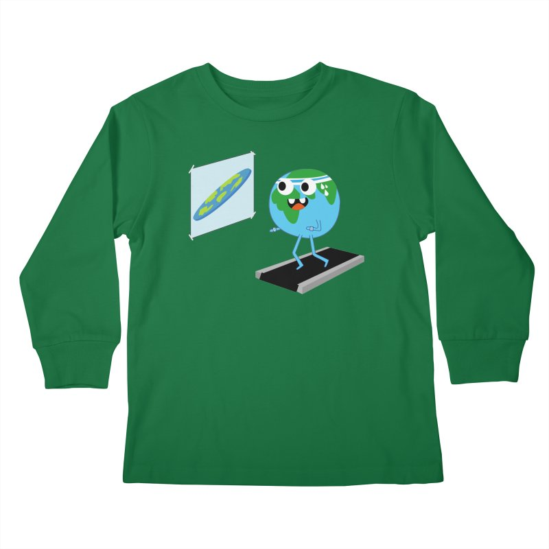 Flat earth Kids Longsleeve T-Shirt by daniac's Artist Shop