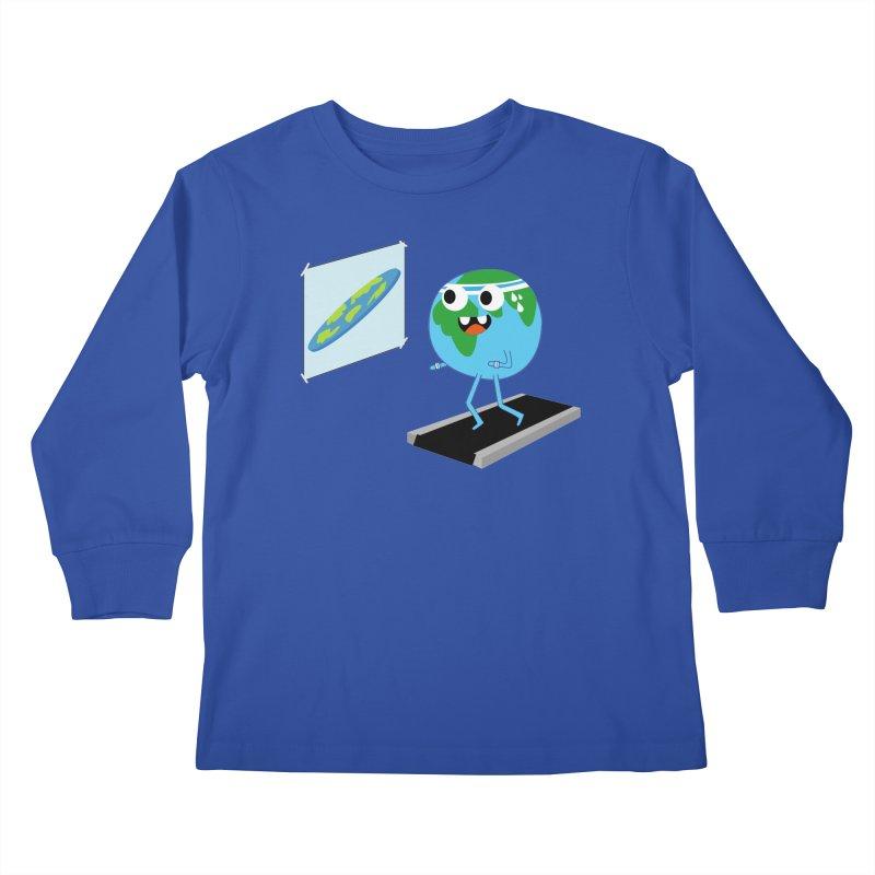 Flat earth Kids Longsleeve T-Shirt by daniac's Artist Shop