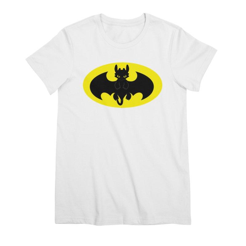 toothless batman Women's Premium T-Shirt by daniac's Artist Shop