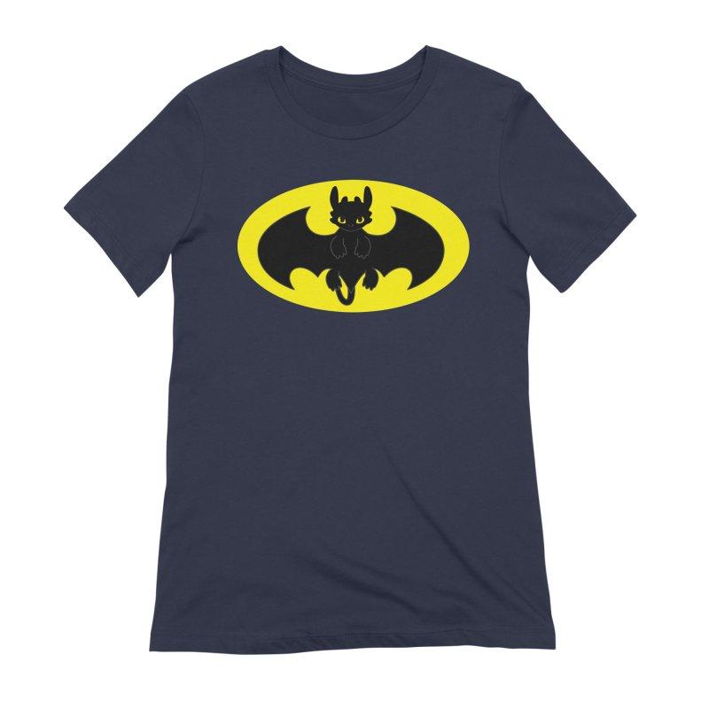 toothless batman Women's Extra Soft T-Shirt by daniac's Artist Shop