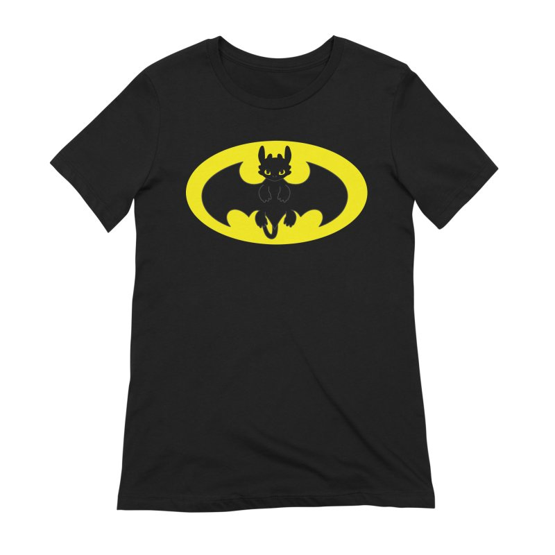 toothless batman Women's Extra Soft T-Shirt by daniac's Artist Shop