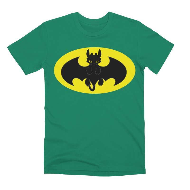 toothless batman Men's Premium T-Shirt by daniac's Artist Shop
