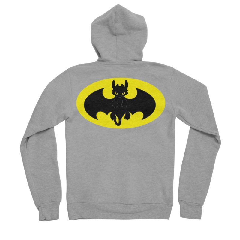 toothless batman Women's Sponge Fleece Zip-Up Hoody by daniac's Artist Shop