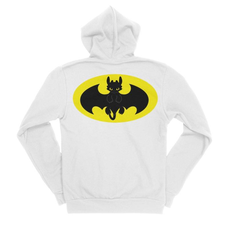 toothless batman Men's Sponge Fleece Zip-Up Hoody by daniac's Artist Shop