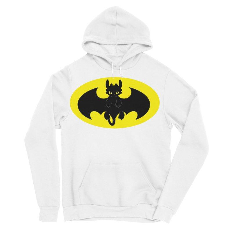 toothless batman Women's Sponge Fleece Pullover Hoody by daniac's Artist Shop