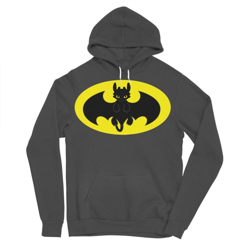toothless batman Men's Sponge Fleece Pullover Hoody by daniac's Artist Shop