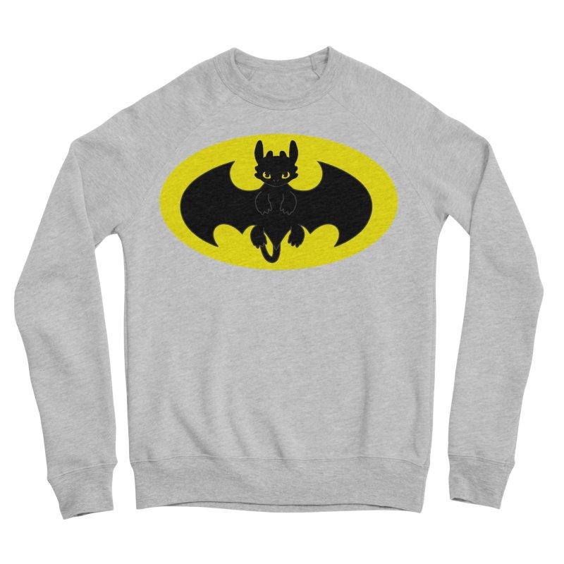 toothless batman Women's Sponge Fleece Sweatshirt by daniac's Artist Shop