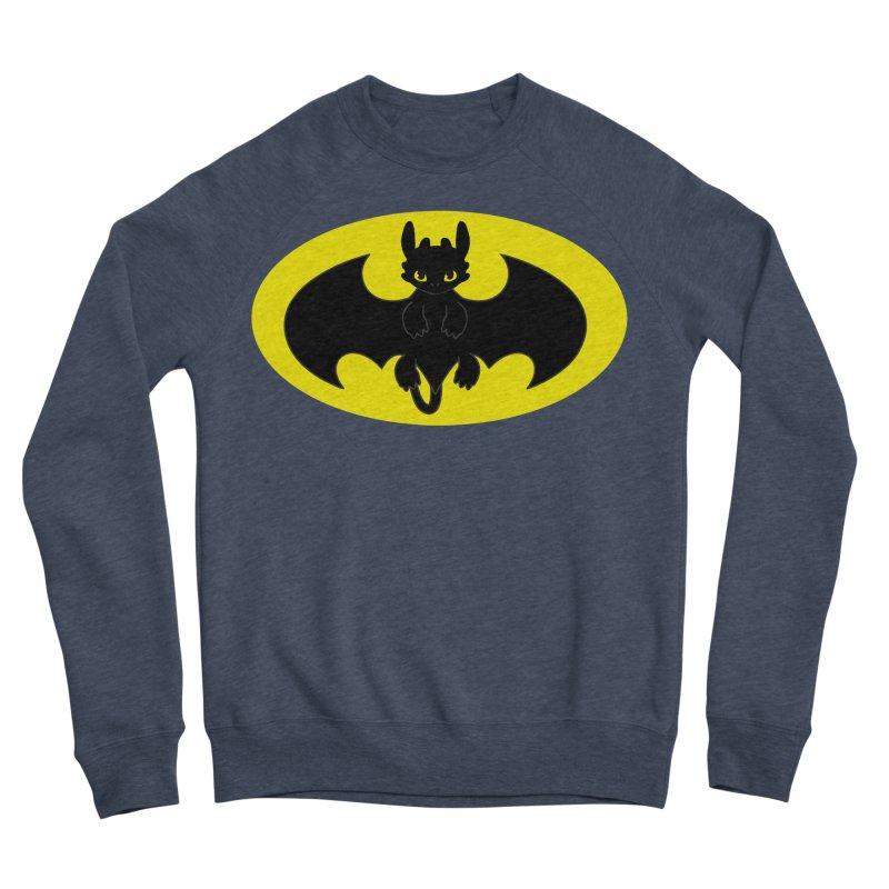 toothless batman Men's Sponge Fleece Sweatshirt by daniac's Artist Shop