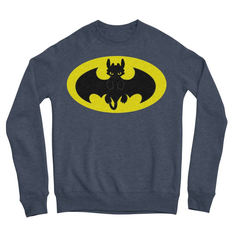 toothless batman Women's Sponge Fleece Sweatshirt by daniac's Artist Shop