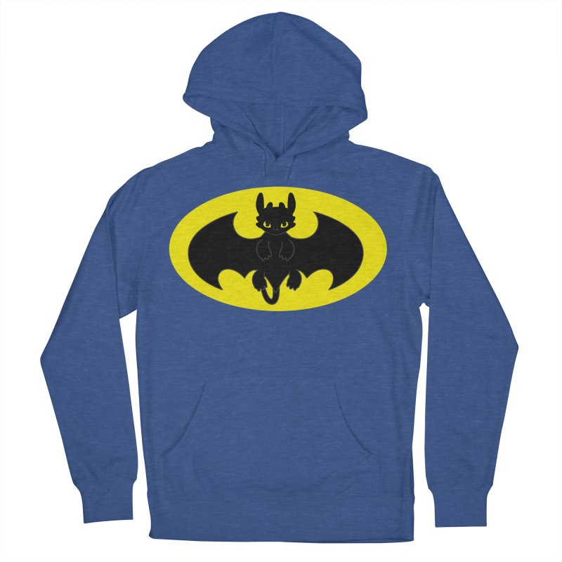 toothless batman Women's French Terry Pullover Hoody by daniac's Artist Shop