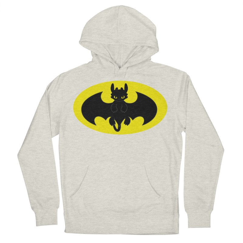 toothless batman Men's French Terry Pullover Hoody by daniac's Artist Shop