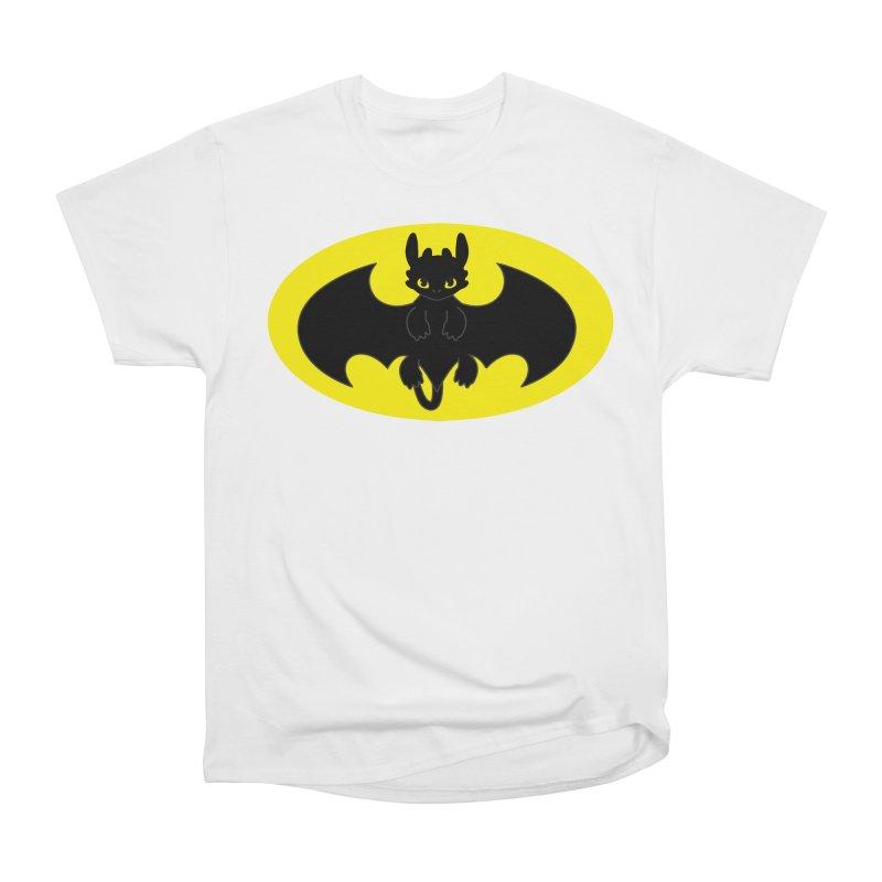 toothless batman Men's Heavyweight T-Shirt by daniac's Artist Shop