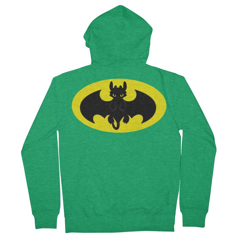 toothless batman Women's French Terry Zip-Up Hoody by daniac's Artist Shop