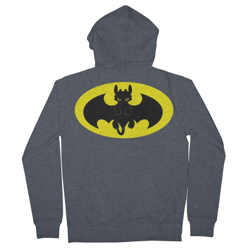 toothless batman Women's French Terry Zip-Up Hoody by daniac's Artist Shop
