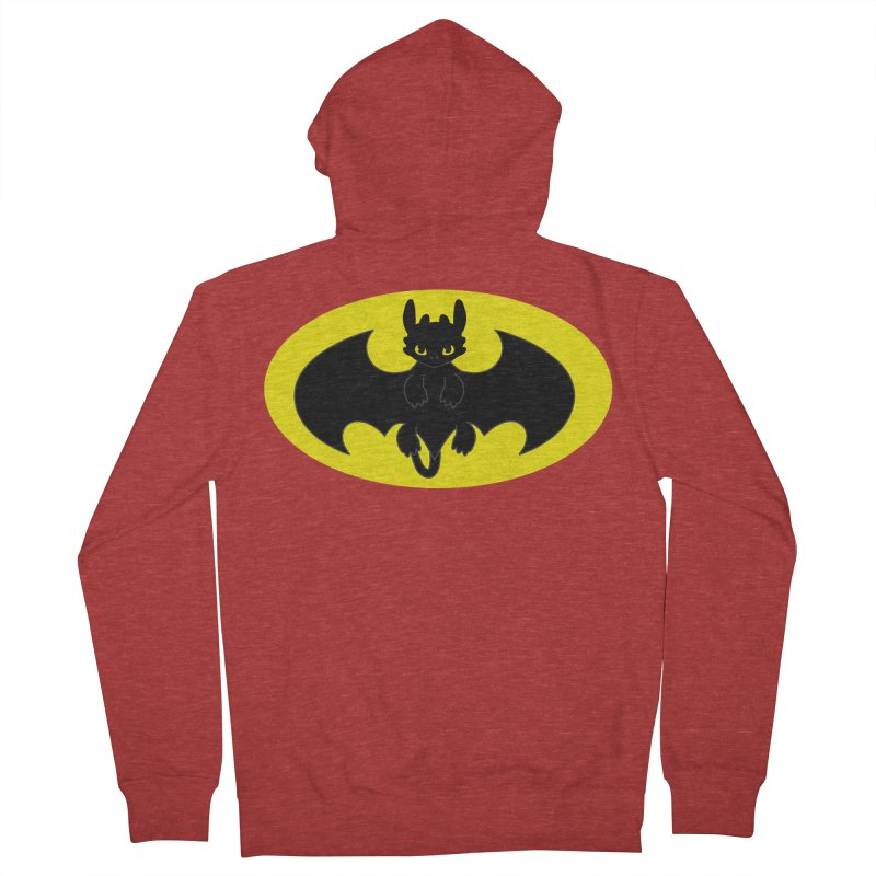 toothless batman Men's French Terry Zip-Up Hoody by daniac's Artist Shop
