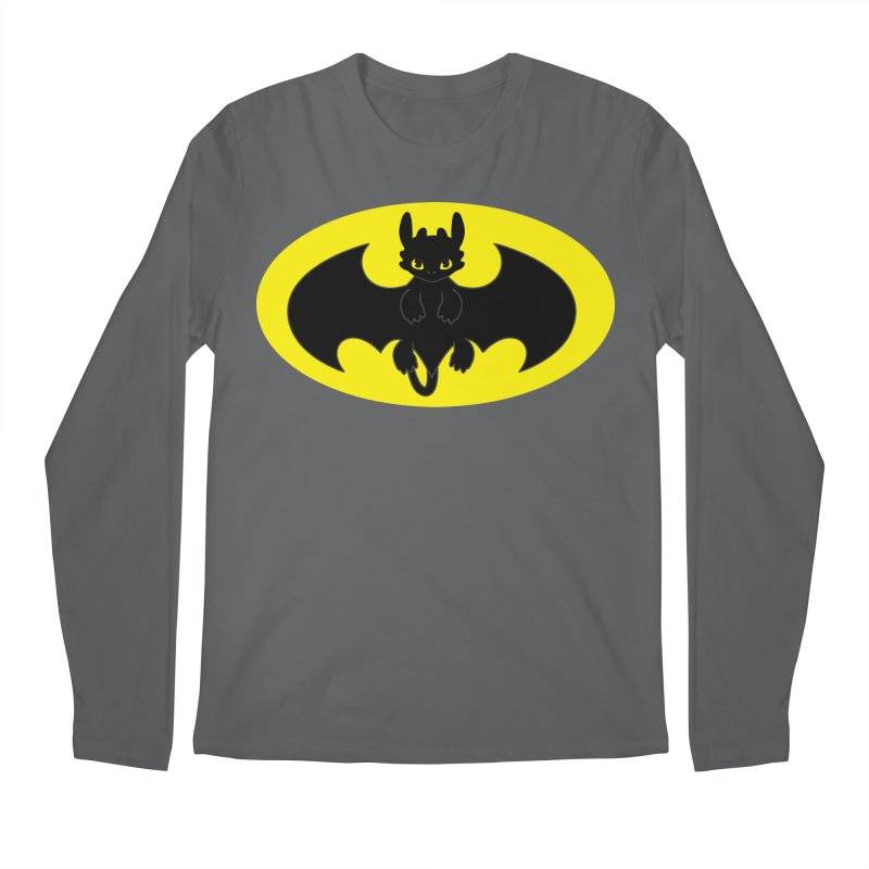 toothless batman Men's Regular Longsleeve T-Shirt by daniac's Artist Shop