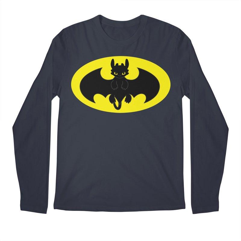 toothless batman Men's Regular Longsleeve T-Shirt by daniac's Artist Shop
