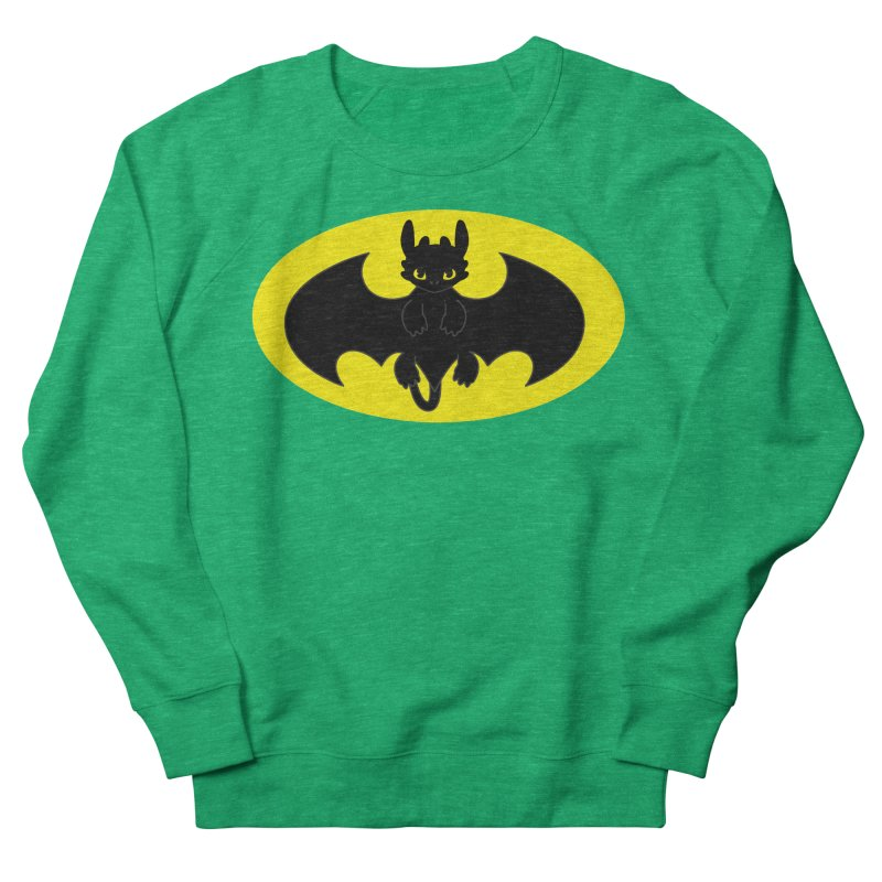 toothless batman Women's French Terry Sweatshirt by daniac's Artist Shop