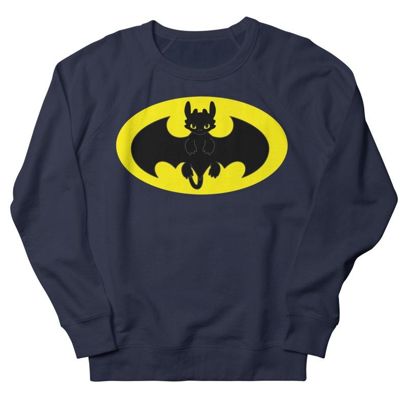 toothless batman Women's French Terry Sweatshirt by daniac's Artist Shop