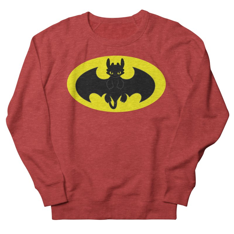 toothless batman Men's French Terry Sweatshirt by daniac's Artist Shop