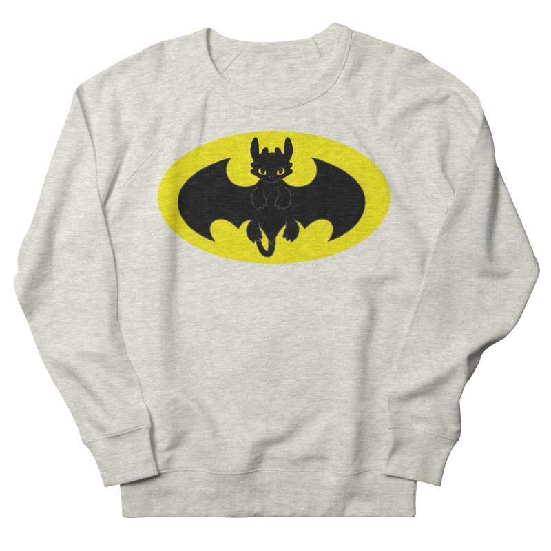 toothless batman Men's French Terry Sweatshirt by daniac's Artist Shop
