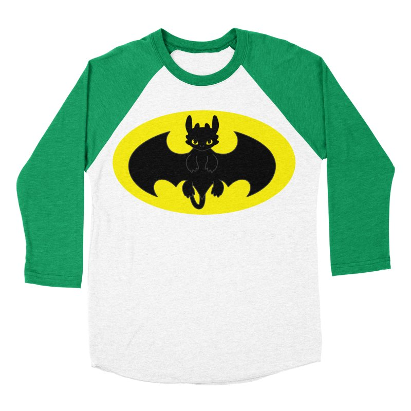 toothless batman Women's Baseball Triblend Longsleeve T-Shirt by daniac's Artist Shop