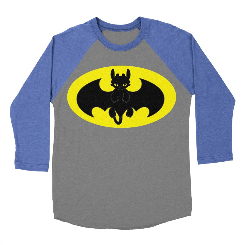 toothless batman Men's Baseball Triblend Longsleeve T-Shirt by daniac's Artist Shop