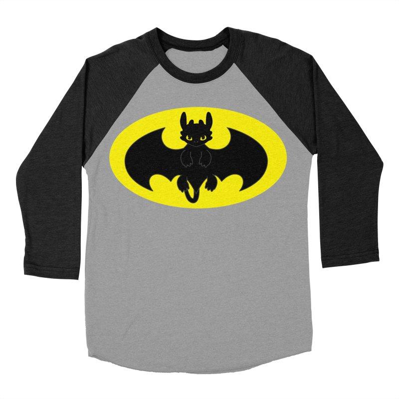 toothless batman Men's Baseball Triblend Longsleeve T-Shirt by daniac's Artist Shop