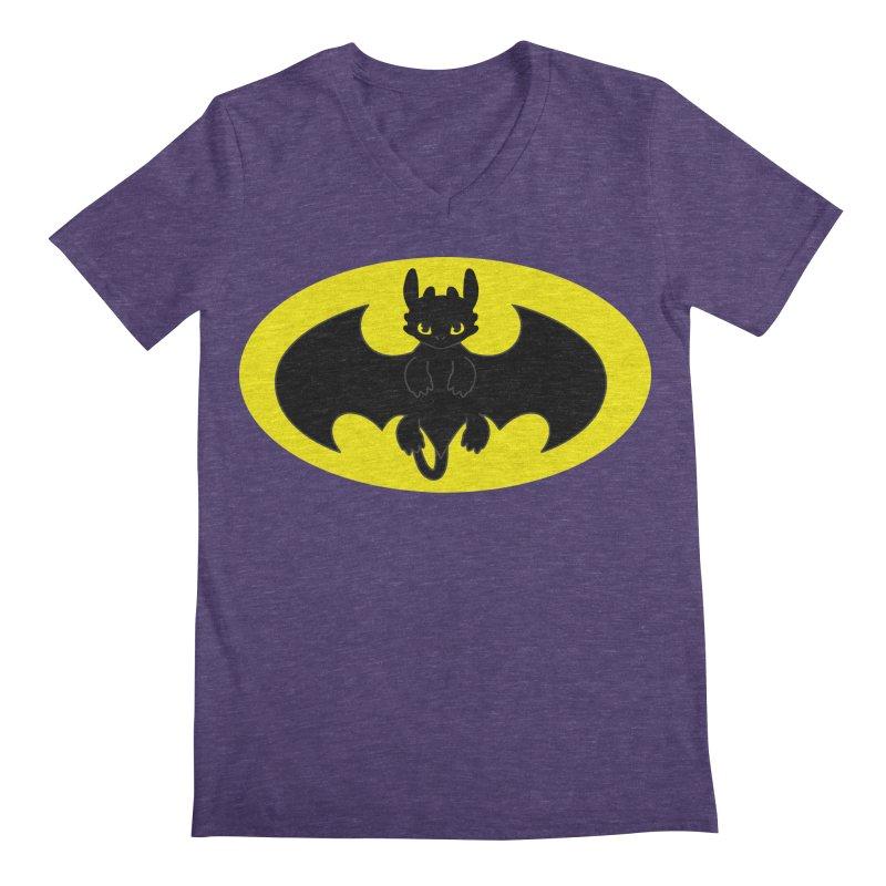 toothless batman Men's Regular V-Neck by daniac's Artist Shop